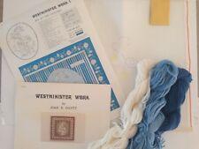 Vtg Crewel Embroidery Kit Westminster Work Joan Gantt 1979 Advanced Needlework