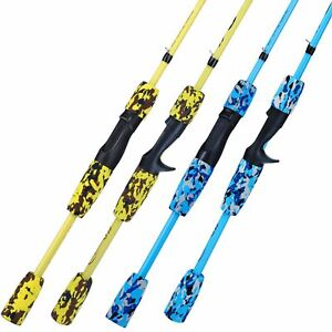 Spinning Casting Fishing Rod Lure Carbon Ultralight Travel Pole Surf 1.7M Tackle