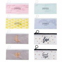 Transparent PVC  Bag Pencil Case Zipper Stationery Cosmetic Storage Cute