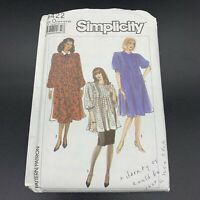 Simplicity Vintage Sewing Pattern #9422 Misses / Petite Maternity Dress 12-18