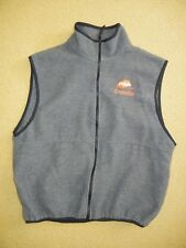 Vtg MICROSOFT EXPEDIA Windows Gray FLEECE VEST Company Jacket Coat Size LARGE