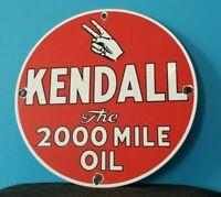 VINTAGE KENDALL MOTOR OIL PORCELAIN GAS MOTOR OIL SERVICE STATION PEACE SIGN