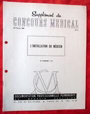 Concours Médical 28/02/1959 - N°9 L'Insatallation du Médecin.