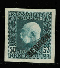Serbia - Austrian-Hungarian occupation of Serbia - imperforated