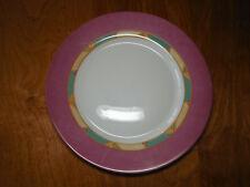 "Luminarc Arcopal France POMPEI Set of 5 Dinner Plates 10 3/4"" Pink Rim"