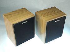 Vintage PAIR Sony SS-U21 Surround Sound Bookshelf Speakers Wood Laminated TESTED