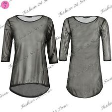 Polyester Stretch Tops & Shirts for Women