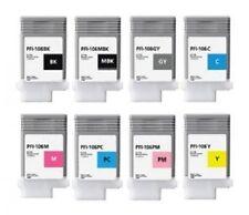 8x Tinta Set para Canon Imageprograf ipf6300s ipf6400s 6400se/pfi-106 cada 130ml