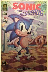 SONIC THE HEDGEHOG Comic Book Mini PROMO 1992 RARE Bagged & Boarded NM+