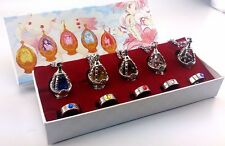 Anime Cosplay Puella Magi Madoka Magica Soul Gem 5 Necklace + 5 Rings Toy