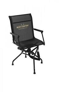 HUNT COMFORT Multi Position Mesh Lite Swivel Hunting Chair, New