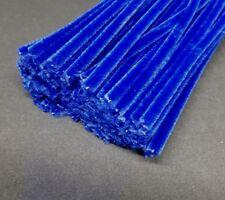 50 x Jumbo Premium Craft Pipe Cleaners Chenille tiges 300 mm x 6 mm-bleu marine