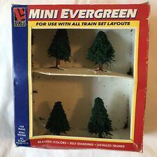 Life Like Trains Mini Evergreen Trees #1326 (Pack of 4) HO N O S Scale Scenery