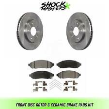 Front Disc Rotor & Ceramic Brake Pads for 2013-2017 Nissan NV200