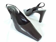 BANDOLINO - Women's Brown Leather Slingback Dress Pumps, With Box - 8M