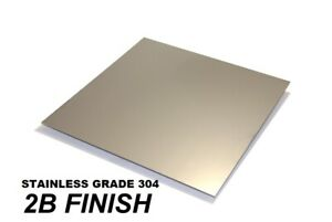 304 Stainless steel  sheet - (0.5, 0.7, 1.2, 2, 3 & 4)mm thick -  MANY  SIZES