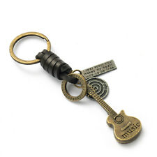 Music Guitar Key Ring Tags Gifts Fashion Guitar Key Chain Ring Lovers Bags