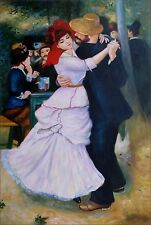 Renoir Dance at Bougival Repro, Quality Hand Painted Oil Painting 24x36in