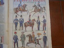 corriere dei piccoli  '30  I CARABINIERI soldati  soldatini