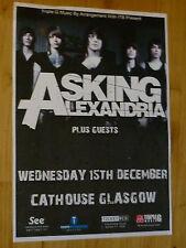 Asking Alexandria live music memorabilia Glasgow dec.2010 concert gig poster
