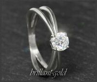 Brillant Diamant Ring aus 585 Gold mit 0,57 ct, River D, Si1; 14 Karat Weißgold