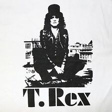 Marc Bolan T.Rex band ***XLARGE*** White screen printed t-shirt Trex