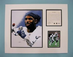 Dallas Cowboys Deion Sanders '95 Football 11x14 Matted Kelly Russell Lithograph