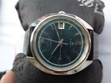 7005-8210 Green Dial Automatic Gents Watch Very Rare Vtg Ss Collectible Seiko