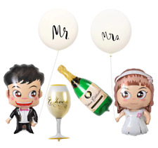 XXL Luftballon Wedding Dekoration Set Hochzeit Folienballon Set Brautpaar Mr Mrs