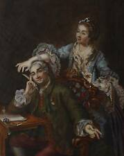 DAVID GARRICK AND WIFE (AFTER HOGARTH) W/COL1861