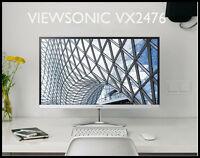 "ViewSonic New 24"" VX2476 16:9 AH-IPS Full HD 1920x1080 HDMI DP Computer Monitor"