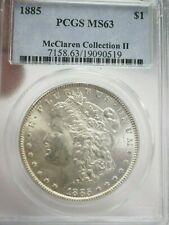 1885 P MORGAN DOLLAR MS63 PCGS  McClaren Collection # 0519