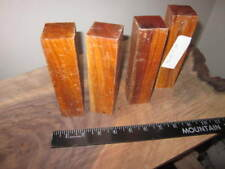 "Lot of 4 Exotic Chakte Viga Wood Turning Blanks 1.5"" x 1.5"" x 6"""