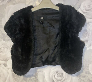 Girls Age 14-15 Years - Black Shrug Top From H&M