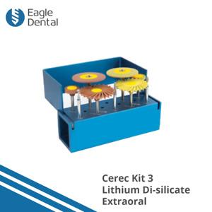 Cerec Restoration Lithium Disilicate Adjustment And Polishing Kit - HP & FG Burs