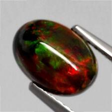1.21 ct  Ovaler chwarzer 8.8 x 6.3 mm Cabochon Multi-Color WELO Opal