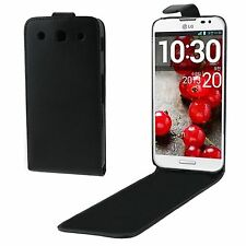 CUSTODIA COVER VERTICAL FLIP NERO PER LG OPTIMUS G PRO F240 ANTI URTO