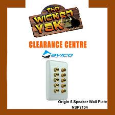 Origin Custom Speaker Wall Plate Connects 5 Speakers NSP2104 - NEW!