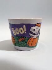 "Vintage Halloween, Snoopy, Peanuts, Candleholder, Hallmark, 3""x3.5"", Porcelain"