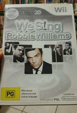 We Sing - Robbie Williams (no booklet) NINTENDO WII - FREE POST *
