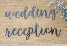 Metal Wedding Signs, Decorative Wedding Word Signs, Wedding Reception