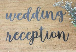 Metal Wedding Signs, Decorative Wedding Word Signs, Wedding Reception