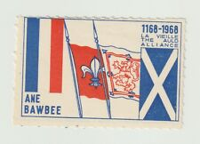 Scotland- 1168-1968 The Auld Alliance- poster stamp, Mint condition BUT has hing