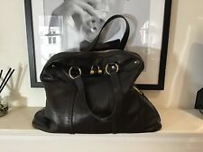 "Yves Saint Laurent ""muse"" XL Bag Dark Brown Leather"