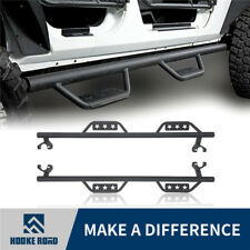 Hooke Road Wide Drop Side Step Nerf Bar Running Board Fit 07-18 Jeep Wrangler JK