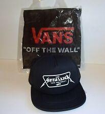 VANS x METALLICA Men's Trucker Hat  Snap back Cap BLACK Off The Wall  BRAND NEW