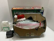 Gemmy Travis The Singing Trout Christmas Edition 1999 Used Original Plastic