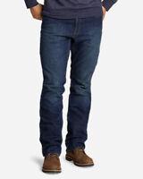 Eddie Bauer Men's Flex Fleece-Lined Jeans - Straight
