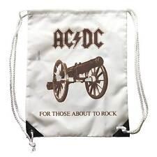 Zaino AC/DC, zainetto Musica, logo For those about the Rock con effetto vintage