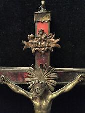 Christ Crucifix Louis XIV 17 ème Haute époque Bronze